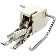 Alfa Prensatelas doble arrastre abierto, enmangue bajo, accesorio para máquina de coser, acero