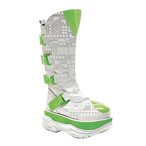 Demonia Neptune-309UV - UV-reactive cyber gothic punk industrial platform boots shoes 3,5-11, US-Herren:EU-43