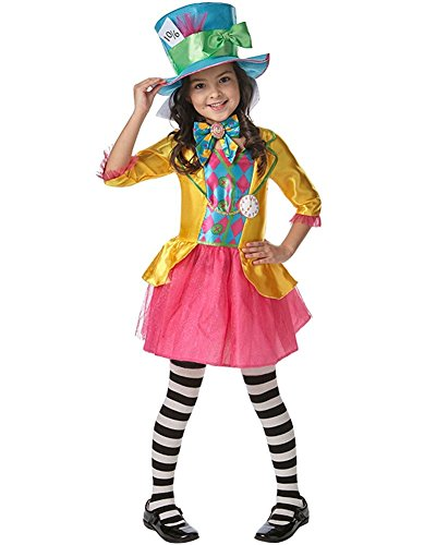 Rubie 's Offizielles Girl 's Disney Alice im Wunderland Mad Hatter, Kinder (Im Wunderland Up Dress Alice)