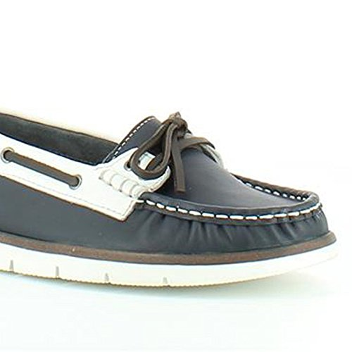 Heavenly Feet  Heavenly Feet Brindle Navy Shoes, Mocassins pour femme Bleu Marine