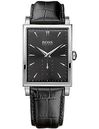 Hugo Boss 1512784 - Reloj analógico de cuarzo para hombre con correa de piel, color negro