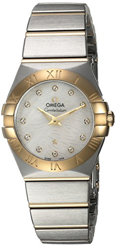 OMEGA Women's Constellation Diamond 27mm Two Tone Steel Bracelet & Case Quartz Watch 123.20.27.60.55.008