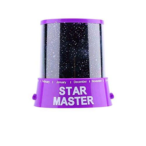 Generic Romantische Amazing Cosmos Moon Colorful Master Star Sky Universal Nachtlicht Kid hectorl Projektorlampe-Violett