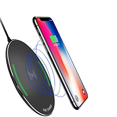 squarex Wireless Charger For iPhone 8/Plus X Qi Fast Charging Pad For Samsung Note 8 S8