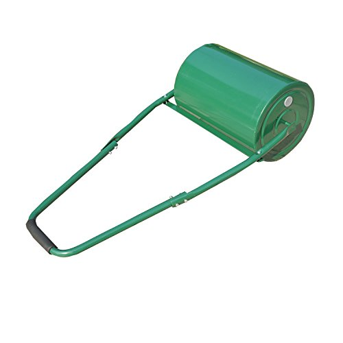 Outsunny 30 Litre Heavy Duty Water Or Sand Filled Garden Steel Lawn Roller - Green