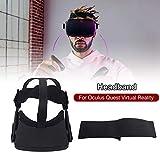 Lacyie Bandeau Serre-tête pour Casque de réalité virtuelle VR Oculus Quest , Ceinture Extensible Confortable avec réduction de Poids