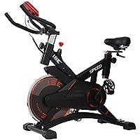 ISE Vélo d'appartement Ergomètre Cardio Vélo Spinning Biking,Petit Exercice de Fitness Indoor avec Programme et l'Ecran,Supports pour Bras,Cardiofréquencemètre Max. 120kg,SY-7005-1