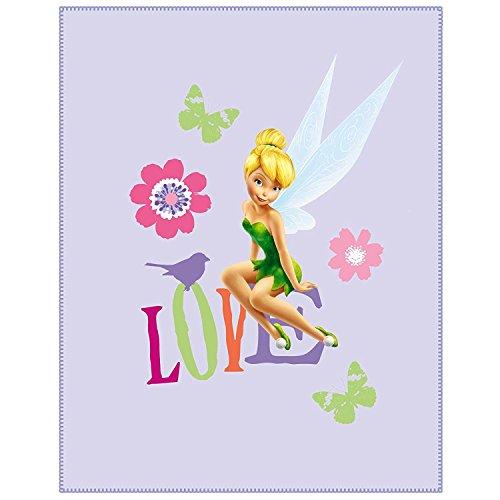 Fleecedecke - Disney Fairie Tinkerbell - 110 cm * 140 cm - Decke aus Fleece Kuscheldecke / für Mädchen - Kinder Plaid Kinderdecke - Schmusedecke - Fairy Feen lila (Disney Princess Sofa)