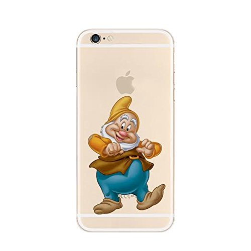 Epician New Disney Seven Dwarfs Clear TPU Soft Case For Apple iPhone 7 Plus HAPPY HAPPY