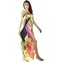 Mela Proibita - Copricostume abito da spiaggia bikini wrap multicolore