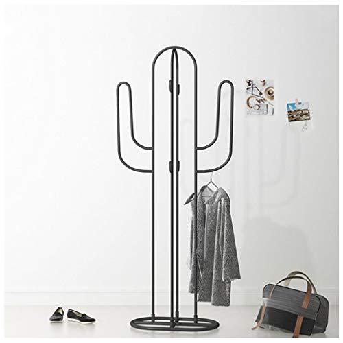 Porte-manteau Vertical En Fer Forgé 160 Cm (5,25 Pi) De Cactus - Magasin De Vêtements Avec Présentoir De Vêtements - Cintres Verticaux Créatifs - Porte-parapluie - Cintres (Couleur : Noir)
