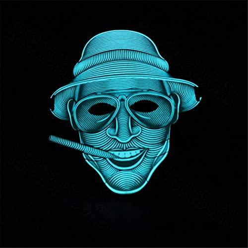 haktivierte Maske, Street Dance Bar Singen Karneval Tanz, Folgen Sie Der Musik, Um Die Glühende Maske Zu Tanzen, Halloween Kreative Glow Mask,1 ()