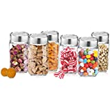 Treo Famacart Glass Cube Jar, 1000 ml (Transparent) - Pack of 6