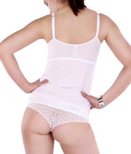 Speidel Dessous-Top, reggiseno-camicia con top in conosce, taglie 36 - 42 Bianco