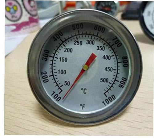 Edelstahl Backutensilien BBQ Smoker Grill Bimetall-Thermometer Temperaturmessgerät 500 Grad-dual Degree Kitchen Tools