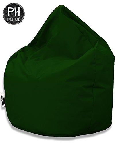 Patchhome Sitzsack Tropfenform Dunkelgrün für In & Outdoor XXXL 480 Liter - mit Styropor Füllung in 25 versch. Farben und 3 Größen