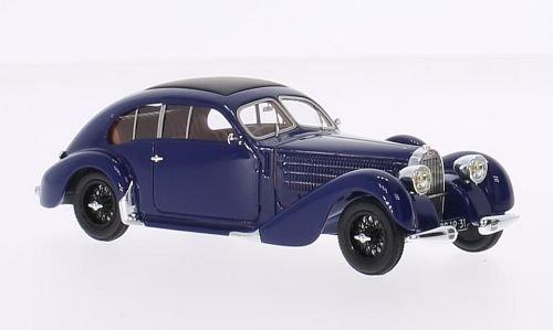 Bugatti T57 / 64, dunkelblau, RHD, 1939, Modellauto, Fertigmodell, Chromes 1:43