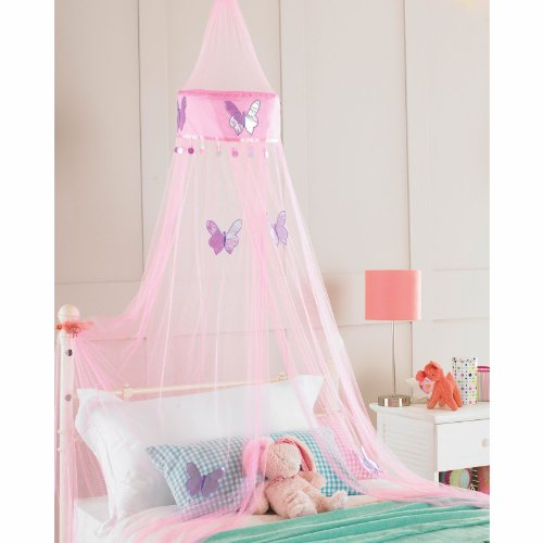 childrens-girls-bed-canopy-mosquito-fly-netting-net-30x230cm-pink-butterfly