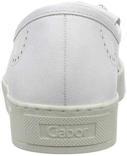 Gabor Comfort, Mocassins Femme, Bleu Blanc (50 weiss/silber)