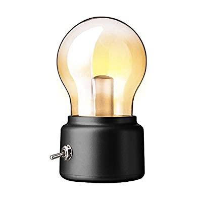 niceEshop(TM) Romantic Bulb Mood Lamp Night Light USB Charging LED Bedside Lamp for Bedroom, Living Room, Baby Room, Coffee Table, Bookcase