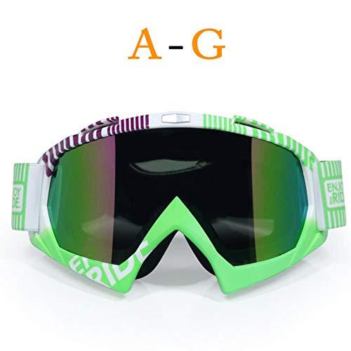 fish Man & Women Motocross Brille MX Off Road Maske Helme Ski-Sport Gafas für Motorrad Dirtbike Racing Google, C1, Einheitsgröße -