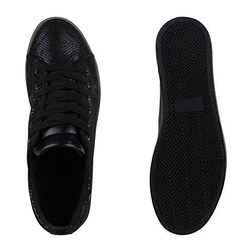 Stivali Paradiso Signore Plateau Sneaker Stampe Piattaforma Metallica Scarpe Anni 90 Look Sneakers Scarpe Lace Up Stampe Fiori Laccati Glitter Flandell Neri