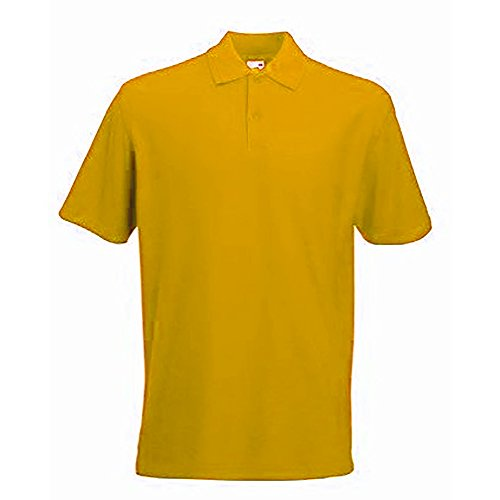Fruit Of The Loom 65/35 Herren Piqué Polo-Shirt, Kurzarm sunflower