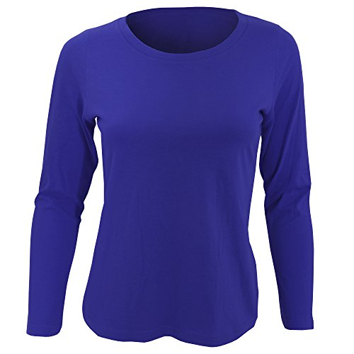 SOLS Womens/Ladies Majestic Long Sleeve T-Shirt (XXL) (Ultramarine)  available at amazon for Rs.1208