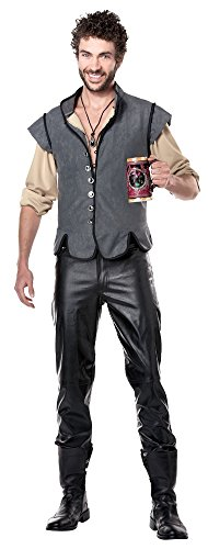 California Costumes Men's Renaissance Man Captain John Smith Historical Character Costume, Gray, Large