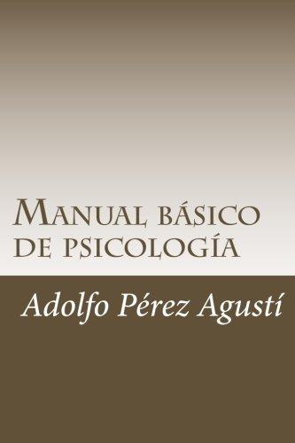 Portada del libro Manual básico de psicología: Contiene exámenes y respuestas