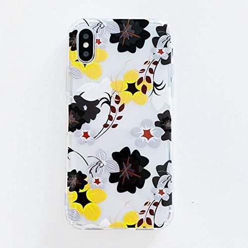 WZYSJK Mode Blume Telefon case Coque für iPhone 8 6 6 s 7 Plus x xs xr max schöne floral weiche transparente silikonabdeckung -