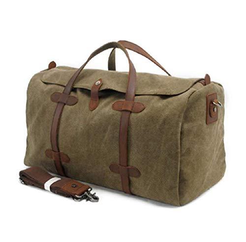 Yuany Outdoor Rucksack Outdoor 36-55L Große Kapazität Canvas Reisetasche Handtasche, Freizeit Reisetasche Umhängetasche, Canvas Robuste, verschleißfeste Anti-Wandern-Tasche - Robuste Canvas Taschen