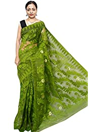 Red Saree Women's Soft Dhakai Jamdani Saree RS203 Pesta Free Size