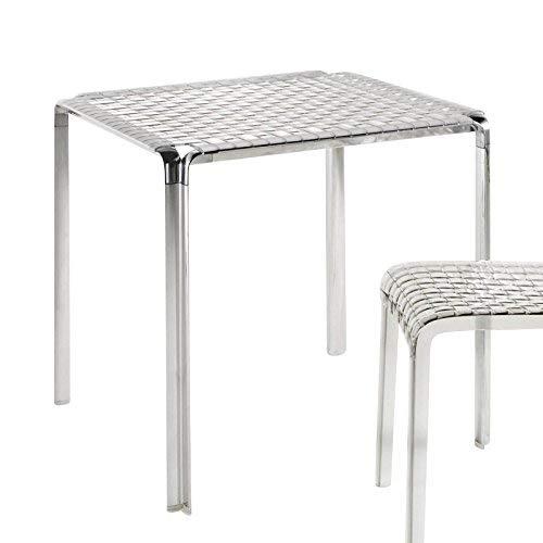 Moderne Ausdrücke Beistelltisch (Kartell Ami Tisch, Plastik, transparent, 70 x 72 x 70 cm)