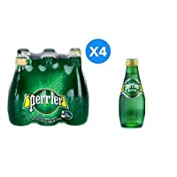 Perrier Glass Bottle Natural Sparkling Water - 200ml (Pack of 24)