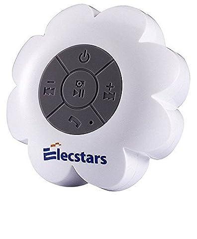 Enceinte étanche, elecstars 2016Haut-parleur Bluetooth haut-parleur portable sans fil avec résistant à l'eau de douche à ventouse/mains libres avec haut-parleur–Meilleur Cadeau pour femmes enfants Enfants Filles Garçons (Blanc)
