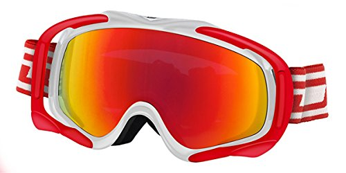 Dirty Dog Goggles 54118 Weiß und Rot 54118 Visor Goggles Lens Mirrored