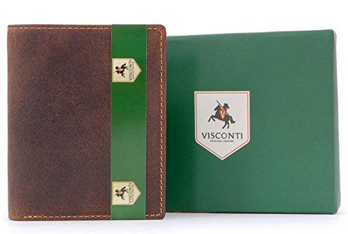 Portefeuille gibecière en cuir - signé Visconti (705)
