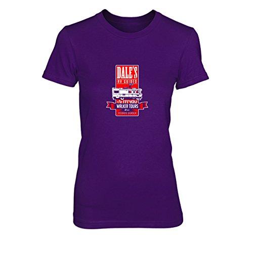 Dale's Walker Tours - Damen T-Shirt, Größe: XL, Farbe: lila