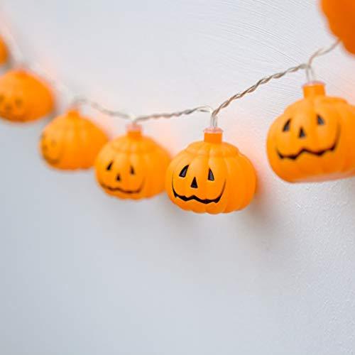 Brucelin - ghirlanda luminosa decorativa a led, corda di zucca di halloween, decorazione 3d, decorazione di zucche, halloween, carnevale, centro tavolo, patio, giardino 1