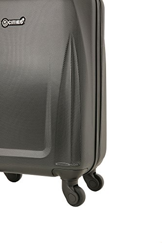 5 Cities Lightweight ABS Hard Shell Carry On Cabin Hand Luggage