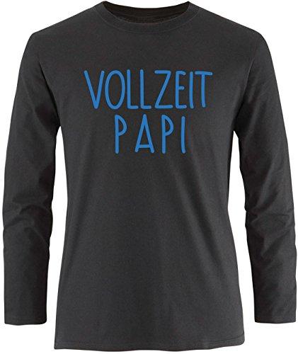 EZYshirt® Vollzeit Papi Herren Longsleeve Schwarz/Blau