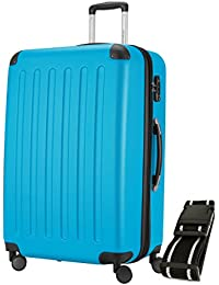 Principal Ciudad maletín ® Maleta de viaje XL · maletín rígido · Candado + equipaje Correa, 128 Liter Cyan Blau (SPREE) (azul) - HK_128_CB_G