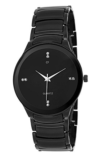 Capture Fashion Analogue Black Stainless Steel Chain Strap Casual Watch For Men_Cp-120