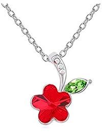 fcfaf0bf7360 KOMO Joyería Collar Mujer Plata de Ley 925 Colgante Collar de Cristal