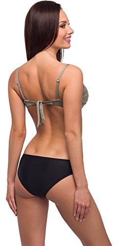 Merry Style Coordinati da Bikini per Donna Modello: N3 34/AG Beige/Nero