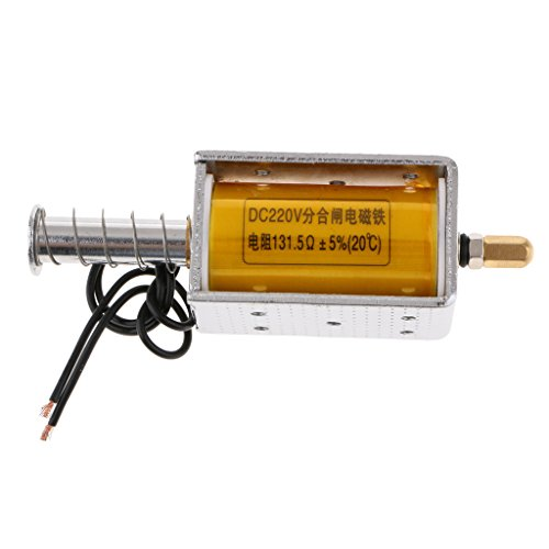 Homyl DC 220V Rahmen DC Solenoid Elektromagneten 34.5mm 20N 2 Kilogramm für Büro Einrichtungen und Haushaltsgerät, mechanisch -
