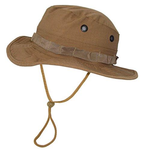 A. Blöchel US Army Outdoor Dschungelhut Rip Stop Boonie Hat Schlapphut in vielen Farben und Größen (S, Coyote Tan) -