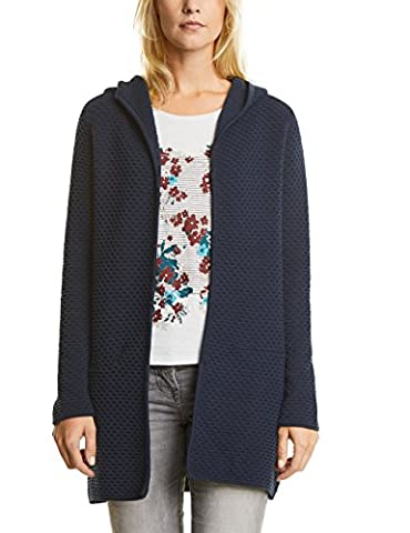 CECIL Damen Strickjacke Lene 252526 Blau (Deep Blue 10128), Large