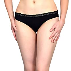 Enamor low waist designer breif (pack of 6) (black red golden, Large)